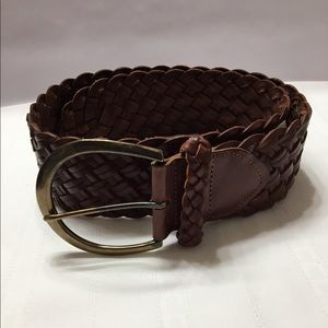 Express Braided Oversized Belt Leather EUC $50